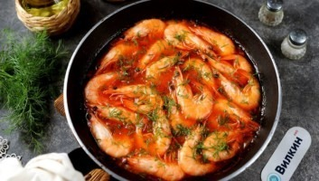 Креветки под соусом
