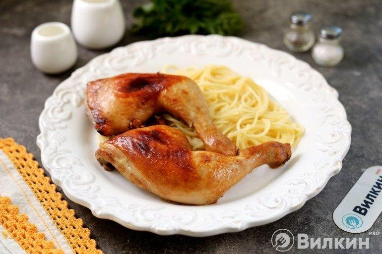 Запеченные куриные ножки в соево-медовом соусе на обед