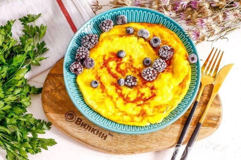 Сладкий омлет на завтрак