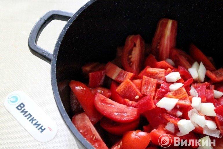Овощи в казане