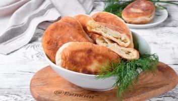 Пирожки на кефире на сковороде