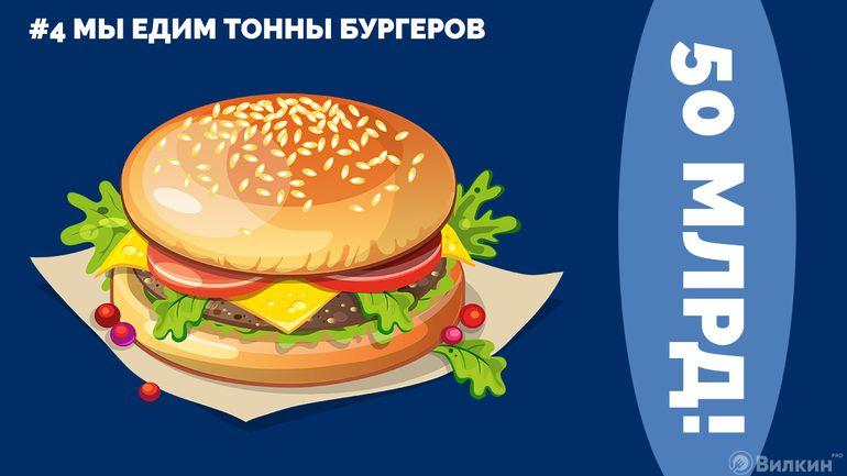 4.Мы едим тонны бургеров