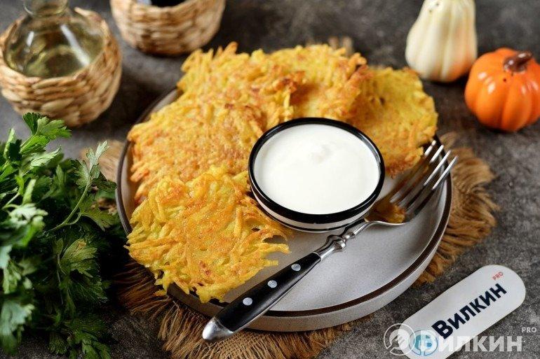 Хрустящие драники из картофеля