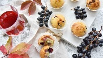 Кексы с виноградом
