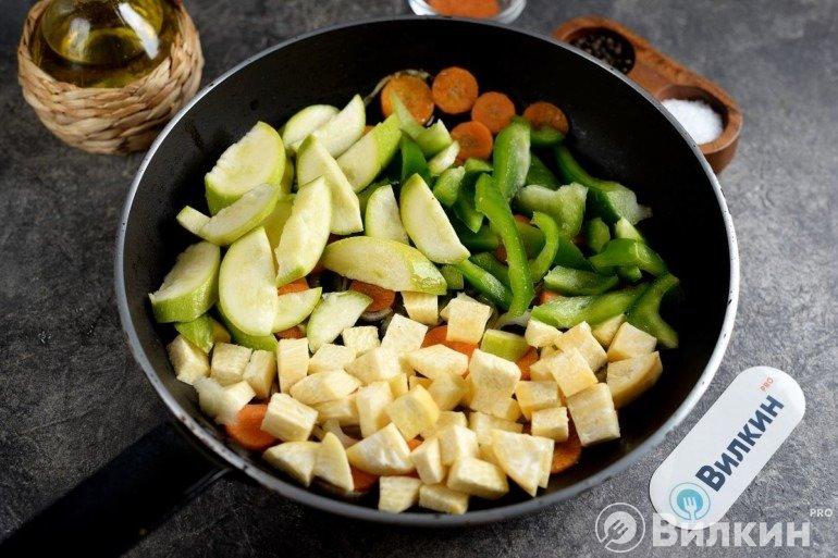 Добавление других овощей
