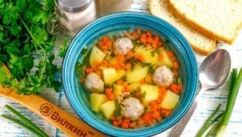 Суп с фрикадельками и картофелем