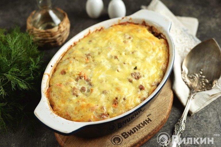 Запеканка из картофеля с фаршем и сыром в духовке: универсальное блюдо