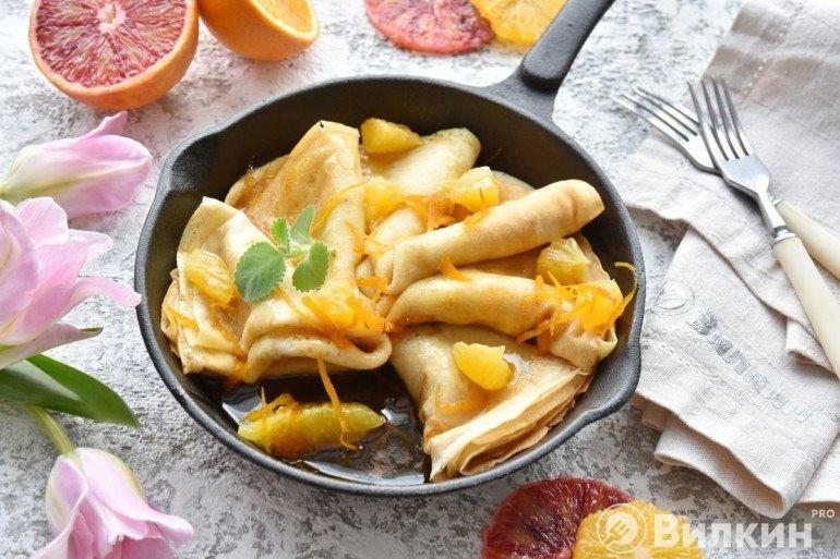 Апельсиновые блины Креп «Сюзетт»