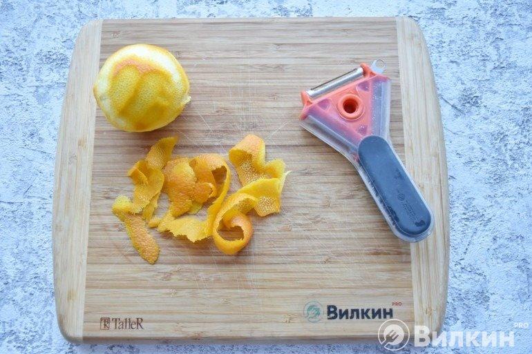 Чистка апельсина