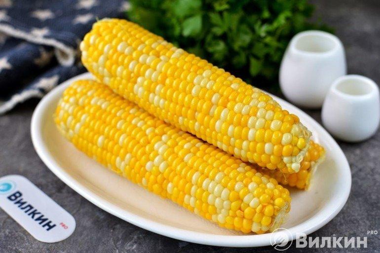 Кукуруза в микроволновке в пакете