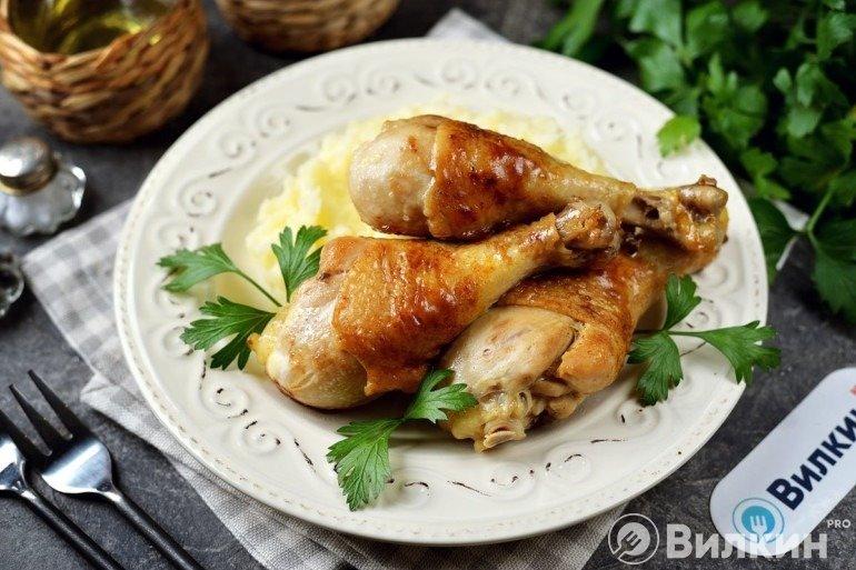 Куриные ножки на сковороде