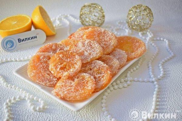 Карамелизированные апельсины на новогодний стол